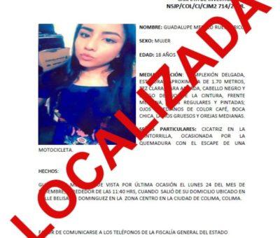 Localizan a joven desaparecida y desactivan Alerta Alba