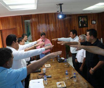 Toman protesta a los 10 integrantes del consejo municipal de seguridad pública