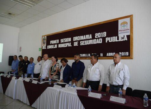 Se instaura el Consejo Municipal de Seguridad Pública en Manzanillo
