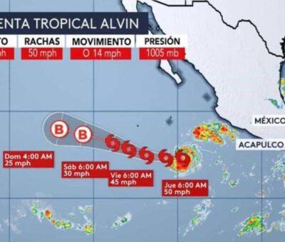 Se forma la tormenta tropical «Alvin» en el pacífico