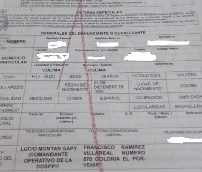 Por no acceder sexualmente,  jefe de la policía vial en Colima despide a dos mujeres; interponen denuncia penal
