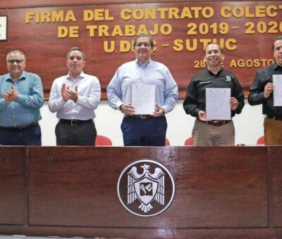 Firman UdeC y SUTUC Contrato Colectivo de Trabajo 2019-2020