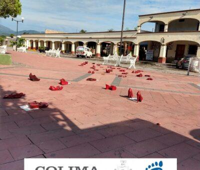En alusión a feminicidios cometidos en Colima, realizarán exposición de arte objeto «Zapatos Rojos»