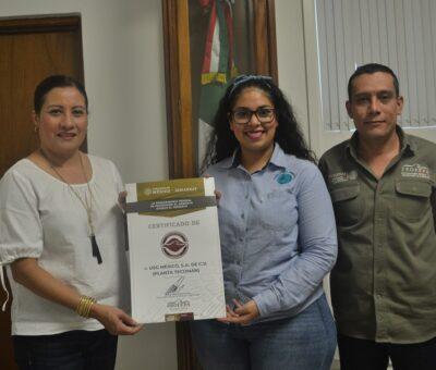 Entrega Profepa Certificado de Industria Limpia a USG Planta Tecomán