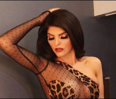 Ana Bárbara seduce en vestido transparente