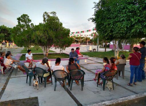 Regidor Serapio gestionará construcción de cancha techada en El Saucito