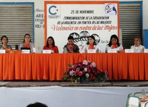 Cierran con éxito actividades por el Día Internacional de la No Violencia de Género