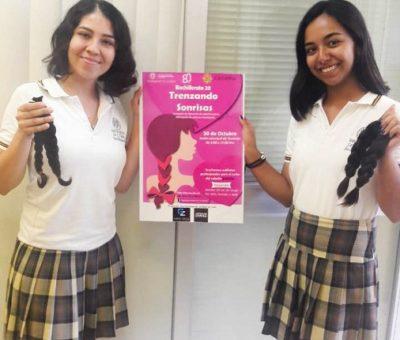 Alumnas del Bachillerato 20 donan cabello para pelucas oncológicas