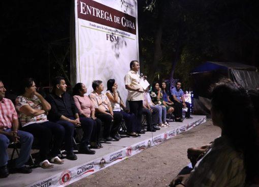 Felipe Cruz Entrega Dos Colectores Pluviales en Colonias Juan José Ríos y Villas San José
