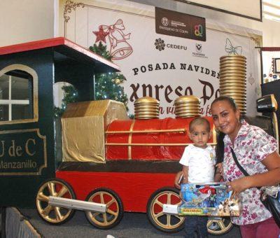 Expreso Polar, un viaje navideño a la felicidad, llegó a Manzanillo