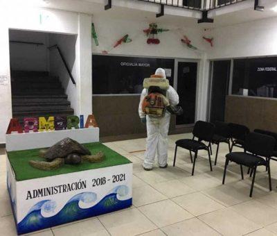 Continúa Ayuntamiento de Armería con medidas por Coronavirus