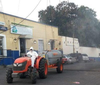 Continúan las acciones de sanitización en Cuauhtémoc para evitar la dispersión del Covid-19