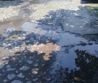 Sin respuesta del ayuntamiento reporte vecinal de tubería de drenaje en calle V. Carranza