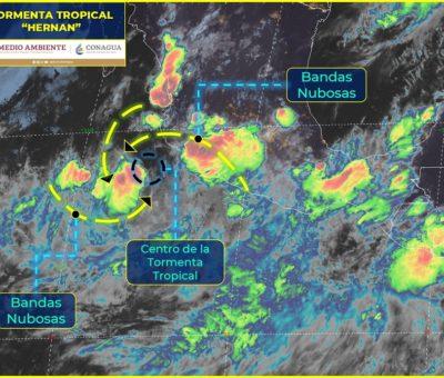 Continuarán las lluvias por tormenta tropical «Hernan»