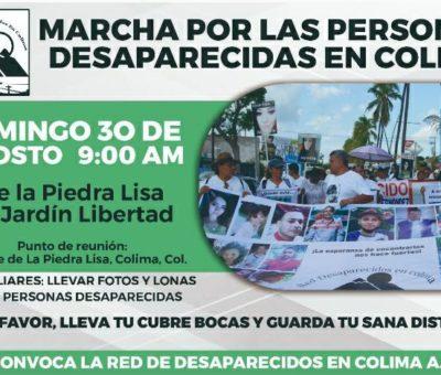 Este domingo habrá marcha por los desaparecidos en Colima