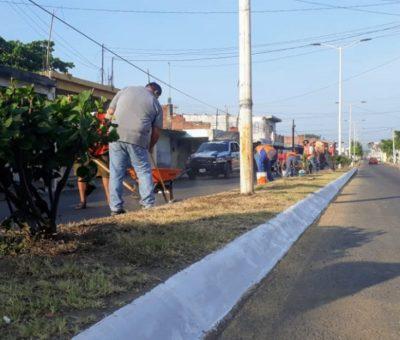 Embellece Salvador Bueno áreas verdes y espacios recreativos