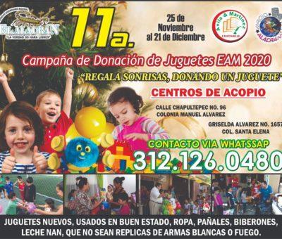 Llevaremos a cabo la 11a. Campaña de Donación de Juguetes 2020