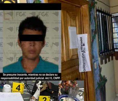 En Manzanillo, decomisan mariguana y metanfetamina en cateo; hay un detenido
