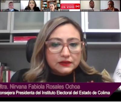 Rinde Consejera Presidenta del IEE Colima Informe de Actividades 2020