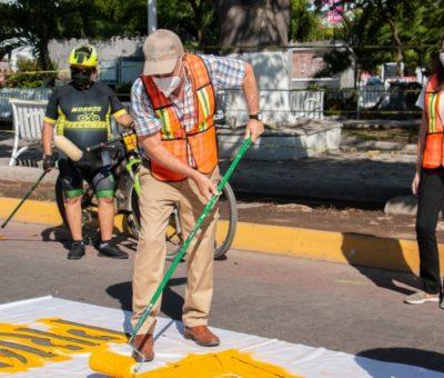 Crean ciclovías emergentes en Tecomán