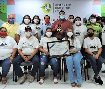 Otorga CDHEC Premio Estatal de Derechos Humanos a la Red Desaparecidos Colima A.C.