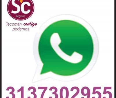 Tecomenses pueden hacer sus reportes vía Whatsaap
