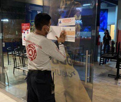 Suspenden 3 locales por incumplimiento de acuerdo de sanidad en brigadas de Protección Civil