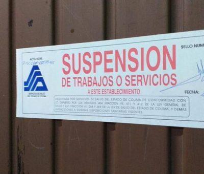 Suspenden 2 bares por incumplimiento  en medidas sanitarias este viernes