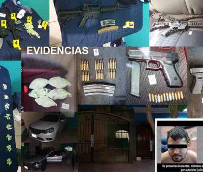 Se aseguran cerca de mil dosis de droga y diversas armas; hay 3 detenidos