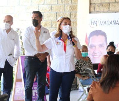 Tey Gutiérrez continúa con intensa campaña en colonias de VdeA