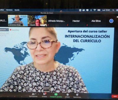 Imparte personal de la UdeC taller sobre Internacionalización, en la U. de Guanajuato