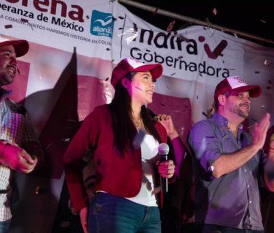 Con 93 mil votos colimenses,  Indira Vizcaíno de MORENA  se alza en la victoria