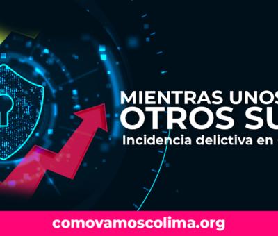 Mientras unos bajan, otros suben: incidencia delictiva en Colima Estado