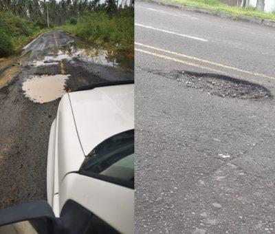 Lluvias han dejado graves afectaciones en la carretera a playa al Real: comisaria
