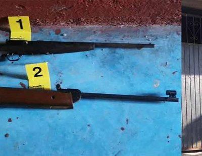 En Armería, asegura FGE dos armas durante cateo