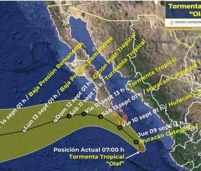 Se convierte ´Olaf´ en huracán categoría 1